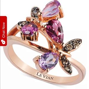 Le vain butterfly ring beautiful 14 kit gold